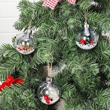 Новогоднее Украшение Детские игрушки прозрачный пластиковый мяч для отелей, моллов кулон для Tree Outdoor Декор веселые рождественские подарки