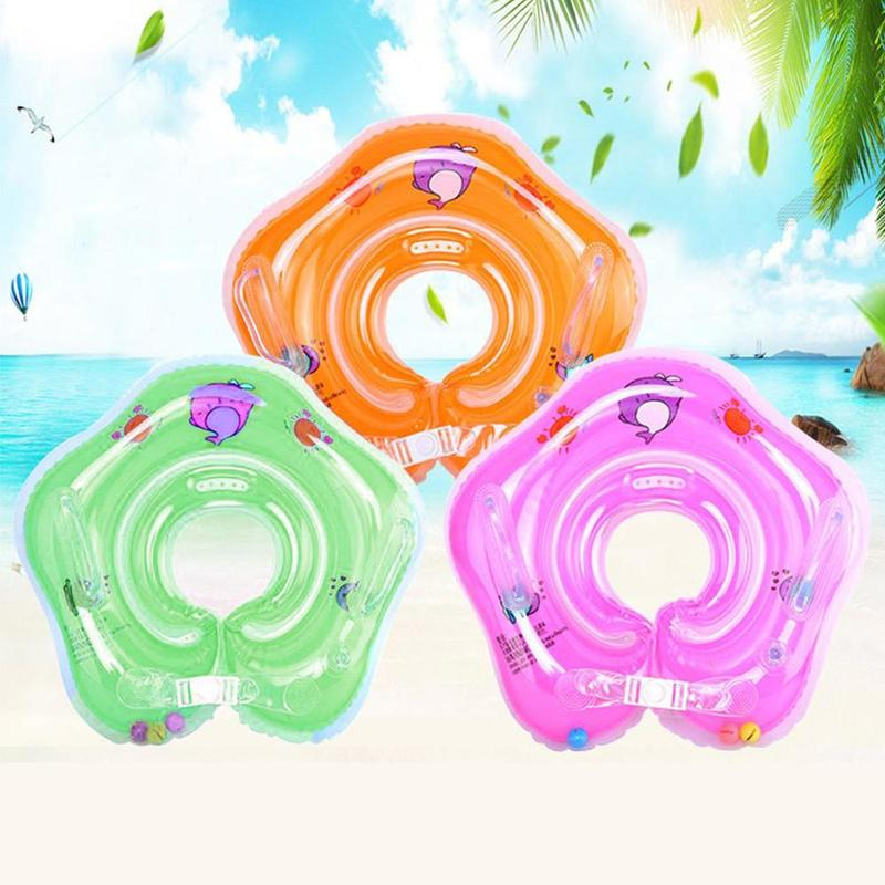Swimming Ring Baby Accessories Inflatable Neck Ring Tube  Swimming Ring Baby Pool Seat Safety Infant Float Circle For Bathing