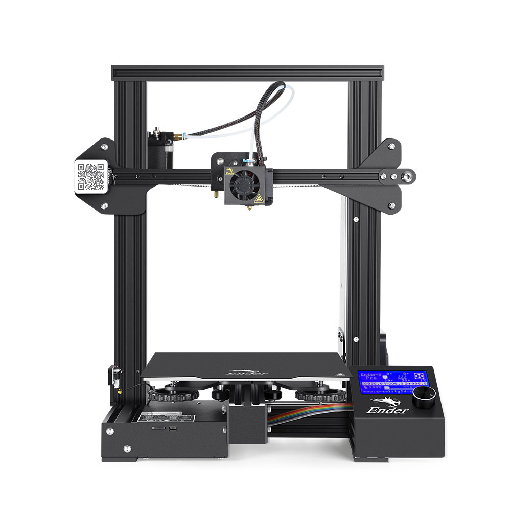 Creality Ender 3 Pro 3D Printer With Removable Build Surface Plate And UL Certified Power Printing DIY KIT MeanWell Power Supply