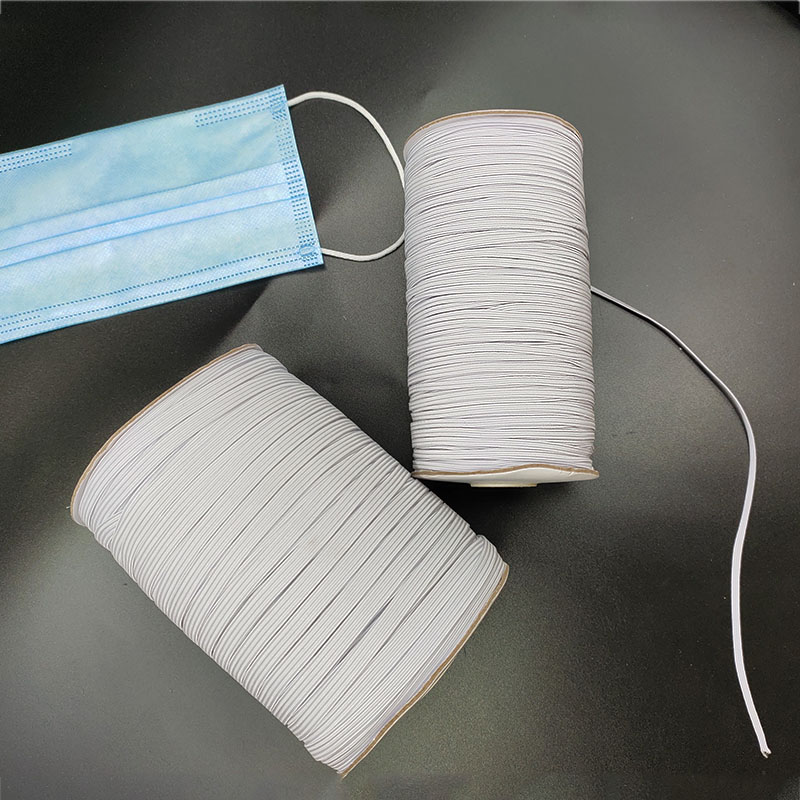 Rubber Bands For Mask 3mm 6mm White Black Elastic Band Spandex Belt Trim Sewing Ribbon Clothes Material Diy Masks