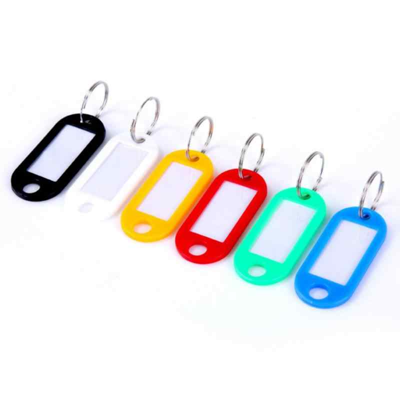 1 Pz/lotto Colorful Key Id Marchi Nome Tags Split Ring Portello di Automobile Portachiavi Portachiavi Portatile Accessori da Viaggio 2019 Hot
