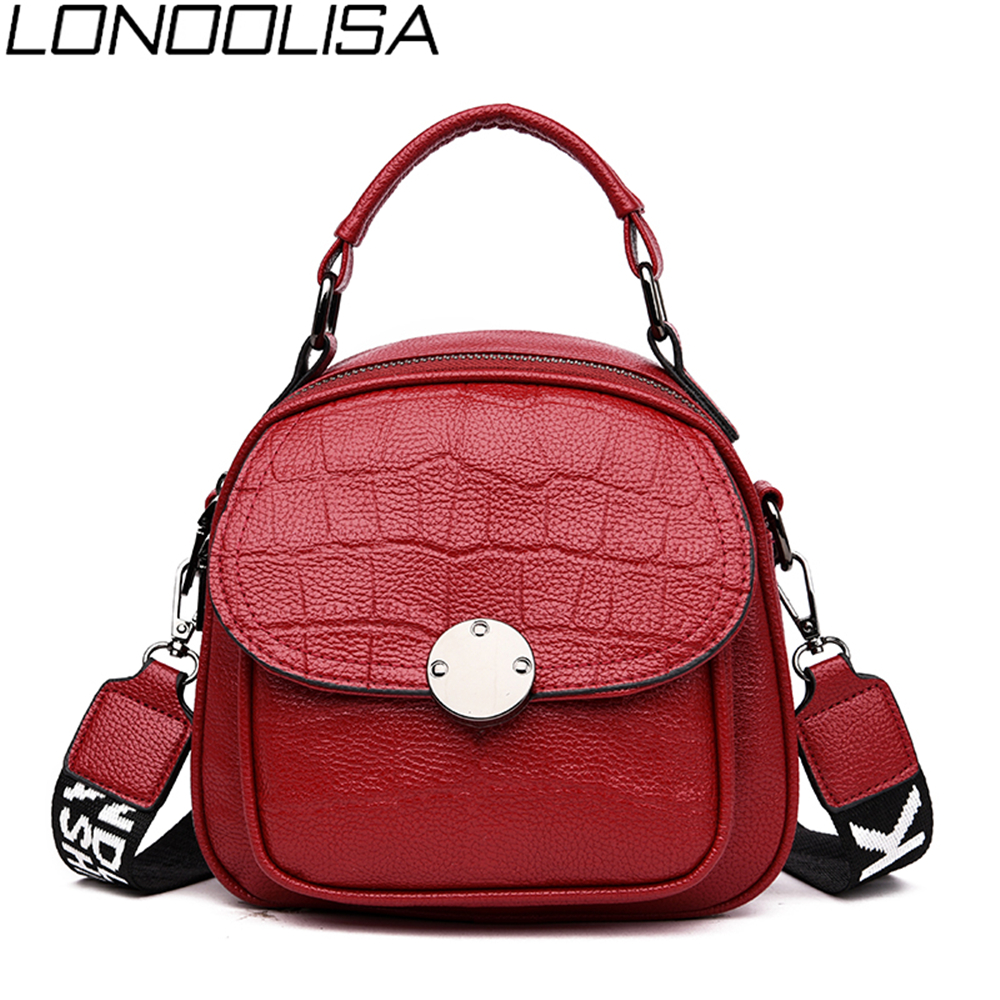 High Quality Crocodile Pattern Ladies Bagpack 3-in-1Women Leather Backpack Fashion Solid Shoulder Bags Sac A Dos Femme Mochila