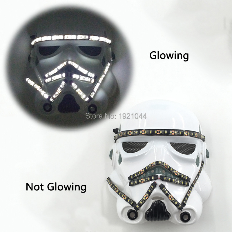 Halloween LED Mask Star Wars Film Theme Party Cosplsy Mask LED Carnival Mask for Halloween Party Mask Decorations 12V image
