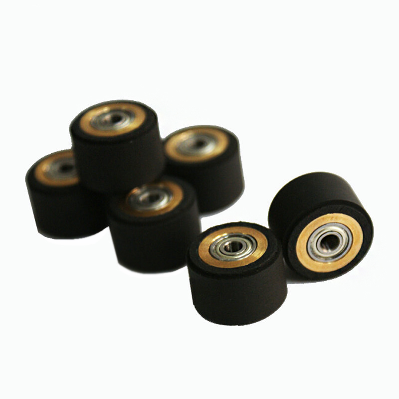 3pcs Mimaki Roland CAMM Skycut Graphtec CE5000 120 Liyu Cutting Plotter Vinyl Cutter Pinch Roller Wheel Roll Feed Rubber Copper