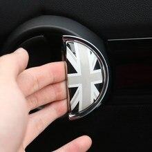 2 pçs porta do carro punhos de pulso anti arranhões 3d estéreo etiqueta protetora para bmw mini um cooper s clubman r55 r56 r60 r61 decalque