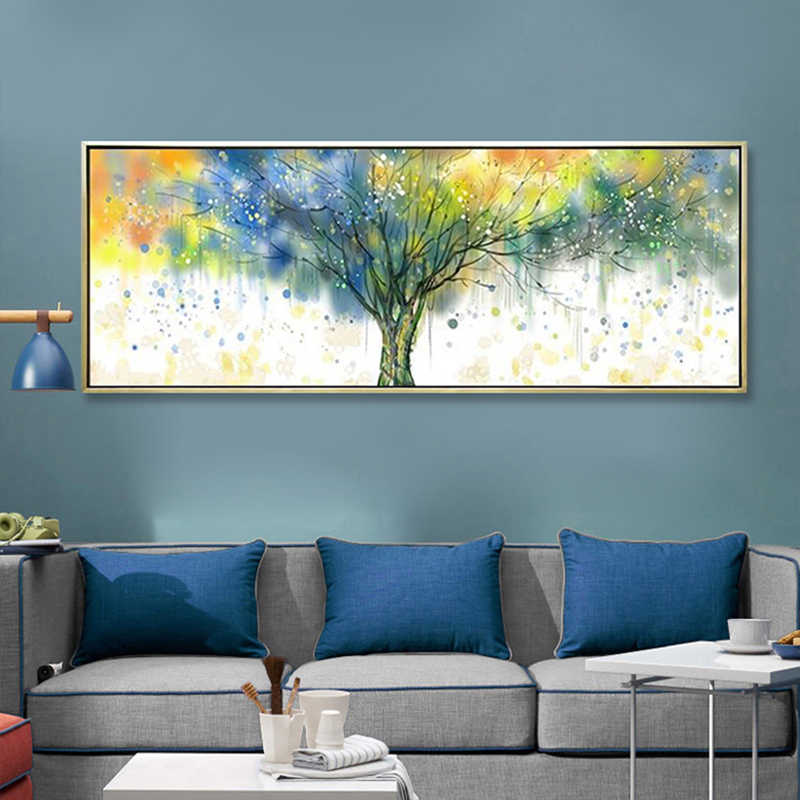 SELFLESSLY Rich Tree Colorful Pictures Canvas Painting Wall Art For Living Room Modern Abstract Art Posters Print Art Unframed