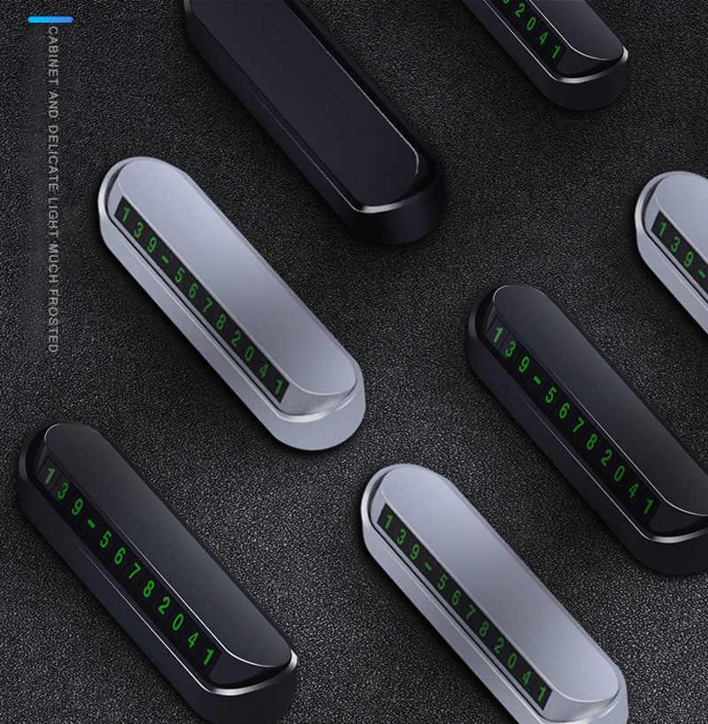 รถบัตรโทรศัพท์หมายเลขบัตรโทรศัพท์หมายเลขรถหยุดอุปกรณ์เสริมสำหรับรถยนต์-จัดแต่งทรงผม13x2.5cm