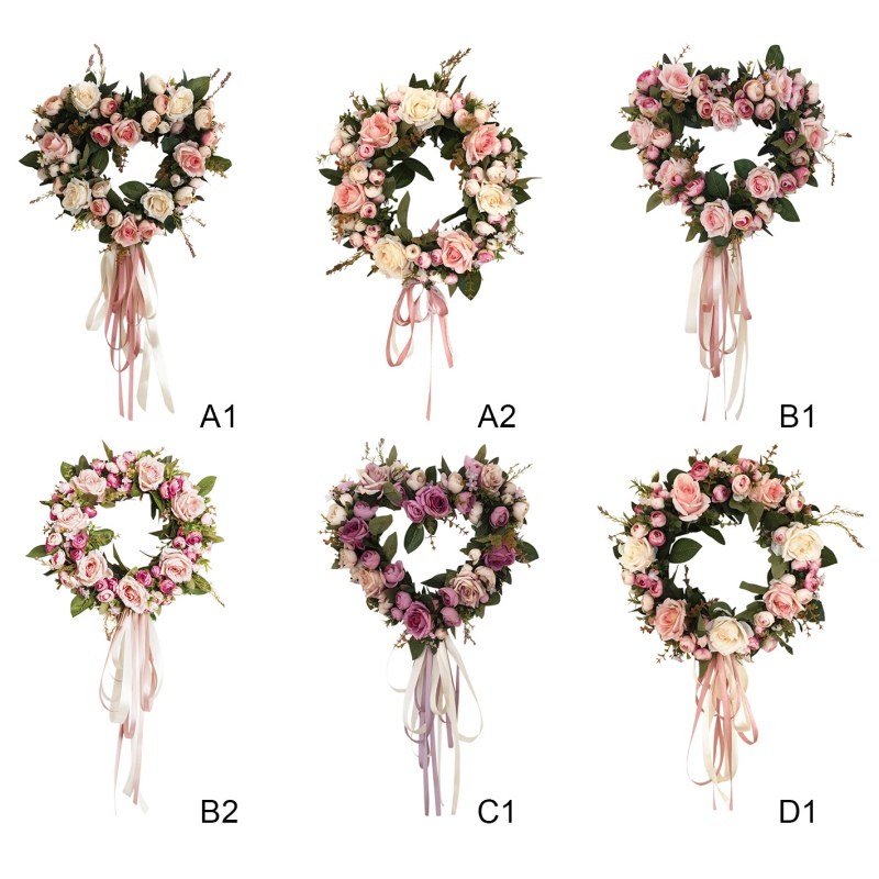Silk Peony Artificial Flowers Wreaths Door Perfect Quality Simulation Garland For Wedding Home Party Decoration