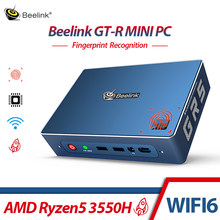 Beelink GTR AMD Ryzen 5 3550H MINI PC Windoes 10 16GB 512GB WIFI 6 Gamer Komputer Sidik Jari enkripsi Kantor Game PC TV BOX(China)