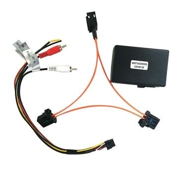 for Audi-s A6 A7 A8 Q7 05-09 AUX Car Optical Fiber Decoder Box Amplifier Adapter