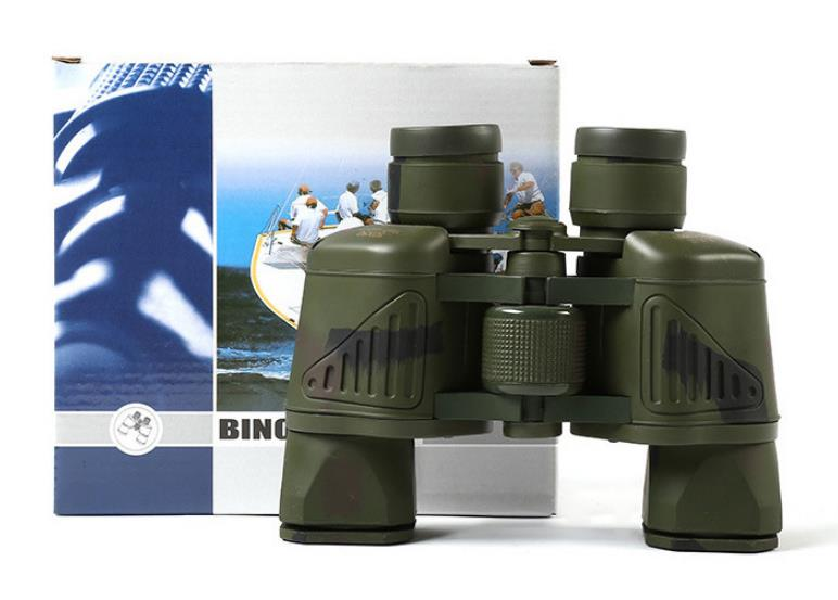 Camouflage outdoor waterproof non-slip portable 99 binoculars high clear power low light night vision function civil telescope