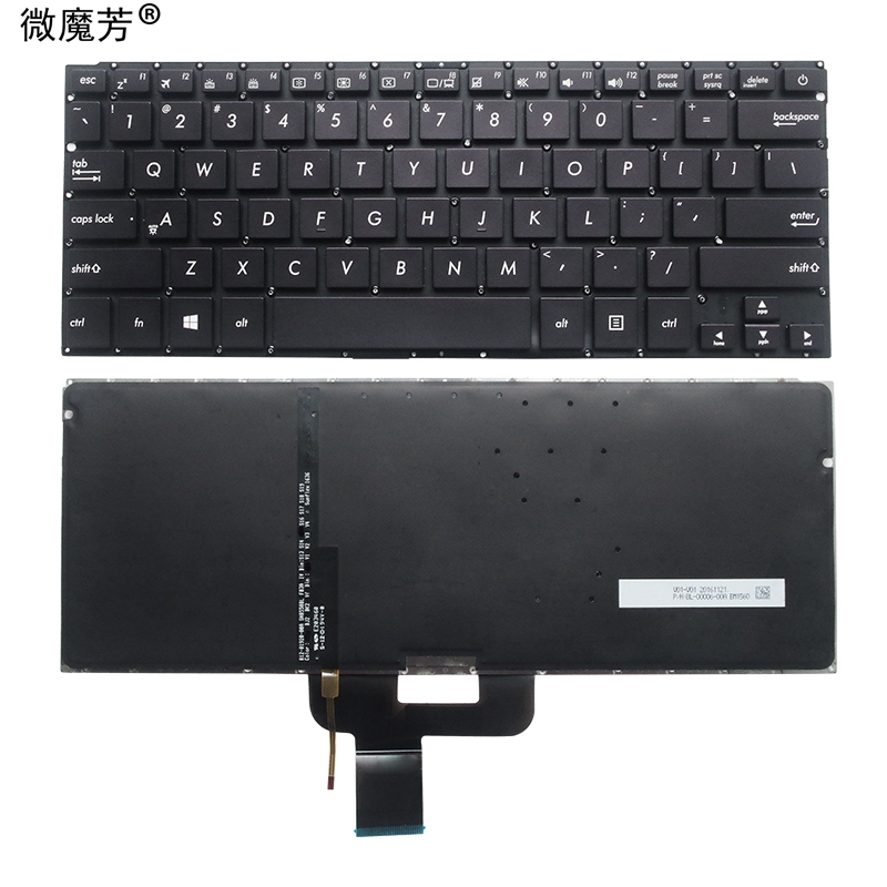NEW US Laptop Keyboard FOR ASUS RX410U UX310 UX410 RX310 U310 U310U UX4000 U4000 U4000U U4000UQ US Laptop Keyboard Backlit