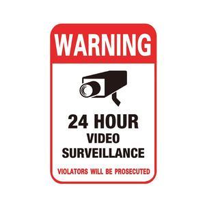 NEW Hot Waterproof Sunscreen PVC Home CCTV Security Video Signs Warning Sticker Alarm Surveillance Camera