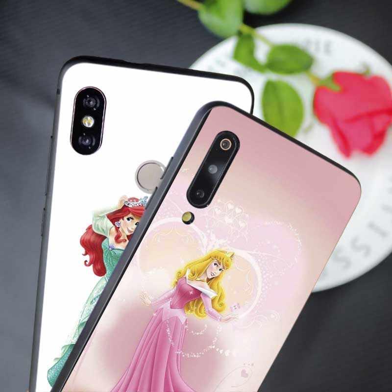 For xiaomi  mi 9 9 pro 9t 9 se mi 8 pocophone f1  mix 3 Soft silicone Phone Case Princess Ariel Little Mermaid snow princess