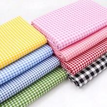 Tessuto scozzese arcobaleno puro cotone 100% camicia abbigliamento abito lenzuolo tessuti in Twill tessile per cucire griglia broccato nero bianco