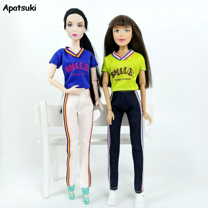 Black PU Leather Skinny Pants Outfit for Blythe Dolls Clothes Accessories