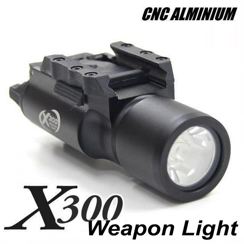 Tactique Airsoft Arma X300 lampe de poche LED arme lumière Softair militaire tir chasse fusil pistolet lampe pistolet lumière