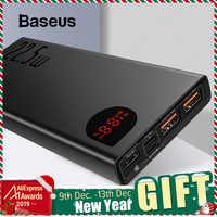 Batterie externe Baseus 20000mAh Charge rapide 4.0 3.0 USB C PD Charge rapide Powerbank pour iPhone 11 chargeur de batterie externe Portable
