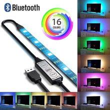Bluetooth RGB LED Strip Light 5050 Waterproof 5M Diode Tape Flexible Neon Ledstrip Ribbon LED Strip USB 5V TV Backlight