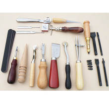 5/18/37pcs Personalizing Tool Leather Craft Tools Kit Hand Sewing Stitching Punch Carving Work Saddle Leather Accessories 19pcs leather tools craft punch kit stitching carving working sewing saddle groover diy drilling grinding needle buckle tool