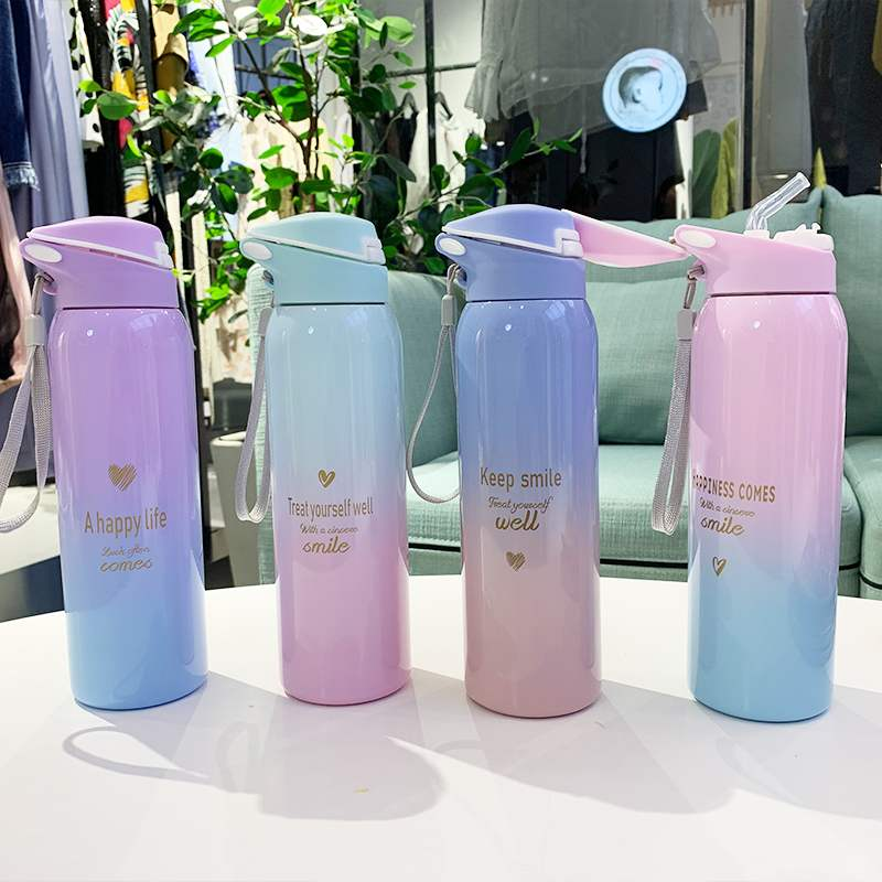 THERMOS Stainless steel Vacuum insulated straw bottle for Bicycle FFQ-600