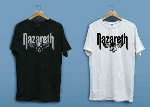 Nieuwe Nazareth Oefeningen Rock Band Logo Wit Zwart Men'S Usa Maat T-Shirt En1 2019 Cool Tees