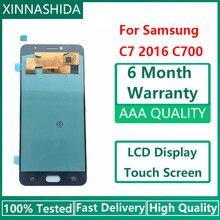 Super AMOLED LCD Pour Samsung Galaxy C7 C7000 SM-C7000 L'assemblée de convertisseur analogique-Numérique D'écran Tactile d'affichage d'affichage à cristaux liquides de Remplacement