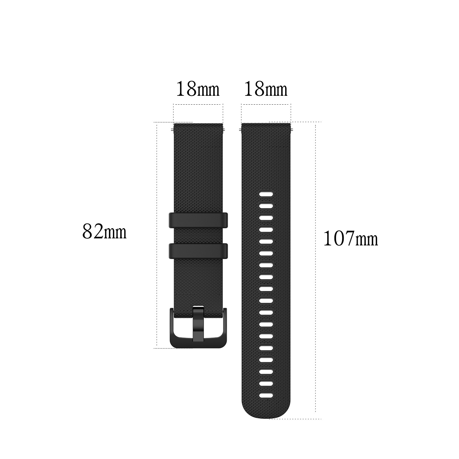 18mm 20mm 22mm NEW Silicone Sports Texture Strap for Garmin Watch Strap Sport Quick release Watchband Replacement Band