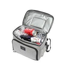 Bolsa térmica plegable para aislamiento de hielo, resistente al agua, para Picnic, bebidas, alimentos, cerveza, mantenimiento fresco, contenedores de almacenamiento, accesorios