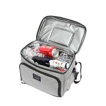 תרמית Cooler תיק מתקפל בידוד קרח שקיות עמיד למים פיקניק לשתות מזון בירה שמירה טרי אחסון מכולות אבזרים