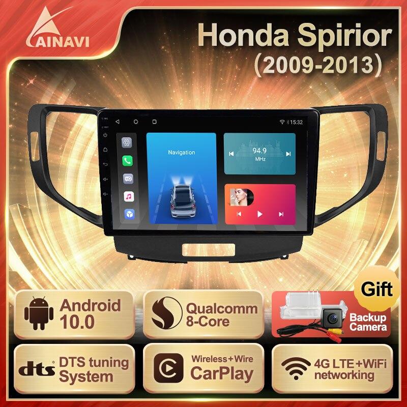 Автомобильный радиоприемник Android 10,0 QLED экран для Honda Spirior Accord 8 2009-2013 автомобильный стерео Мультимедийный Плеер навигация Carplay NO 2din