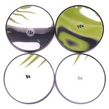 Зеркало для макияжа 3/5/10/15X увеличительное зеркало переднего стекла с двумя присосками косметических инструментов круглое зеркало увеличение