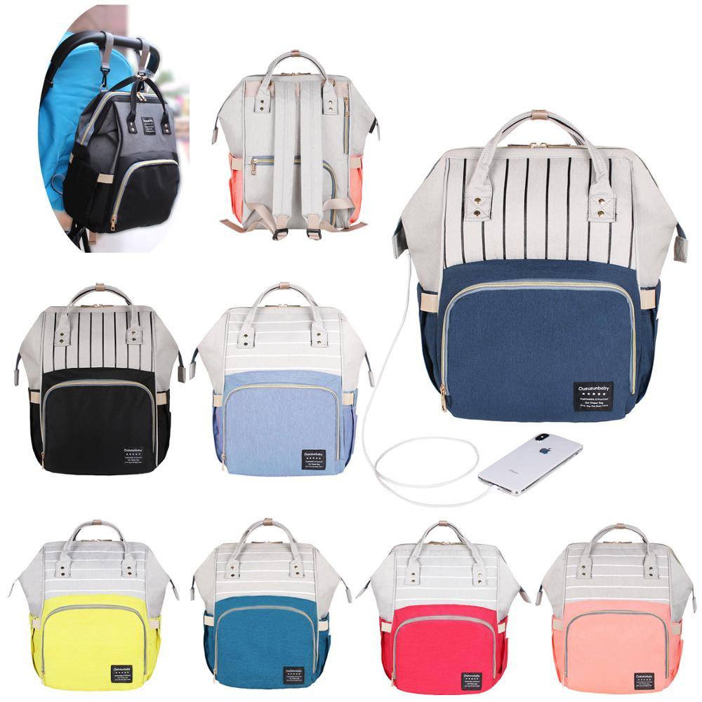 Large Capacity Maternity Nappy Diaper Bag Mummy Travel Backpack Baby Nursing Bag