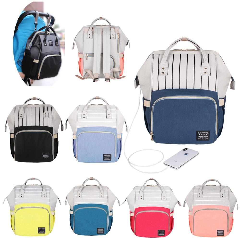 40 Colors Large Capacity Diaper Bag Mummy Maternity Nappy Nursing Baby Bags Travel Backpacks Women s Innrech Market.com