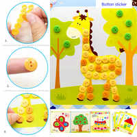 Kids DIY Button Stickers Drawing Toys Funny Game Handmade School Art Class Painting Drawing Craft Kit Children Early Educational