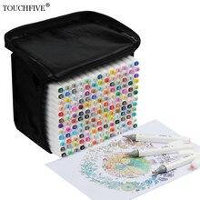 Touchfive 30/60/80/168 色アートマーカー油性アルコールマーカー描画するためのマンガブラシペンアニメーションデザインアート用品marcador