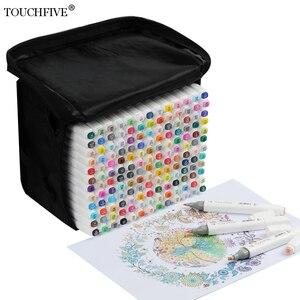 Image 1 - Маркеры touchfive 30/60/80/168 цветов, масляные спиртовые маркеры для рисования, кисть манга, ручка для анимационного дизайна, товары для рукоделия, Marcador