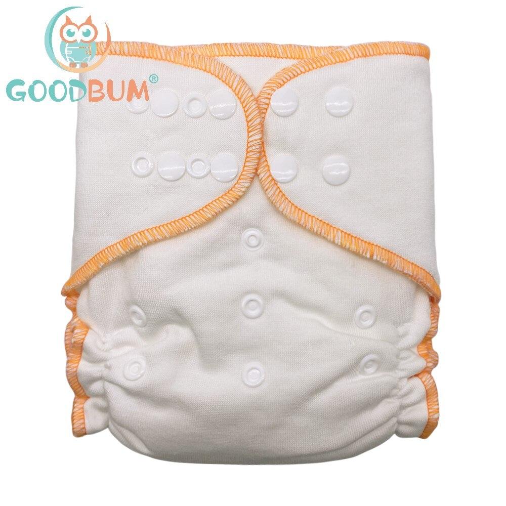 Мягкие двухрядные моющиеся регулируемые подгузники для детей 3-15 кг из бамбукового хлопка AI2