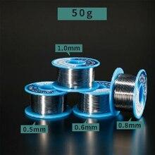 0,5 MM/0,6 MM/0,8 MM/1,0 MM 50g Cable de soldadura de estaño de baja temperatura de fusión Cable de soldadura sin salpicaduras línea de estaño