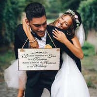 Because Someone We love is in Heaven Wedding Sign Memorial Hanging Plaque Wooden Hanging Board Decoration
