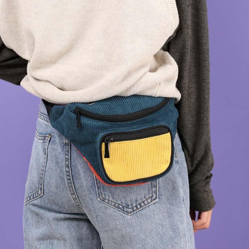Leisure Chest Belt Bag Women Fashion Zipper Hit Color High-quality Personality Breathable Canvas Shoulder Pack Waist Pouch