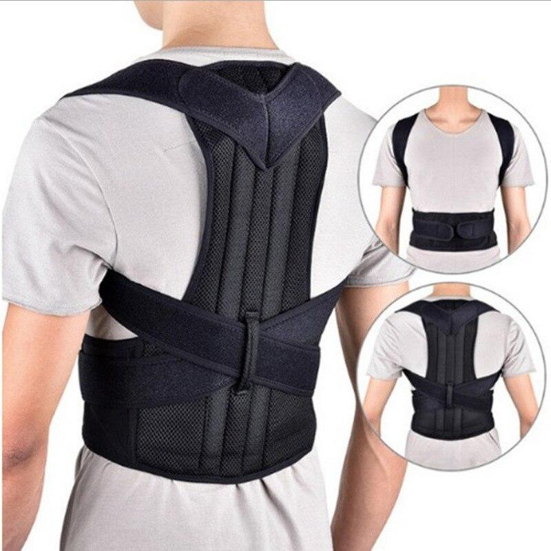 Корректор осанки, поддержка спины, плечи, регулируемый бандаж для спины, коррекция осанки, для мужчин и женщин, универсальная фиксационная л...
