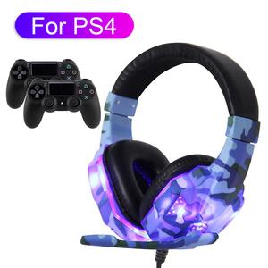 For PS4 PC Gaming Headset Noise Cancelling Loud-Sound Headphone with Mic Deep-Bass Earphone Music Helmet To Computer Phone Gamer(China)