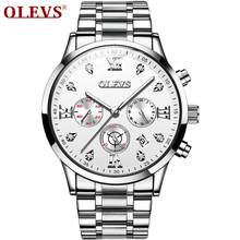 OLVES New Sport Chronograph Mens mechanical luxury Watches Top Brand Luxury Quartz Clock Waterproof Big Dial Watch Men gift(China)