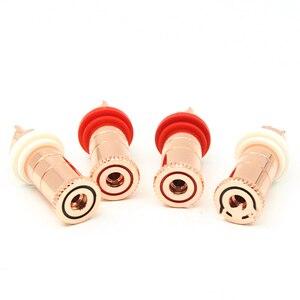 Image 4 - Hifi haut parleur prise cuivre hifi haut parleur connecteur amplificateur borne de liaison poste banane prise connecteur