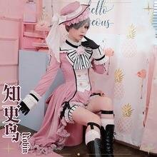 Anime! Robe Lolita noire de majordome, Ciel fantôme, Robin Palace, belle uniforme Rococo, Costume d'halloween, nouvelle collection