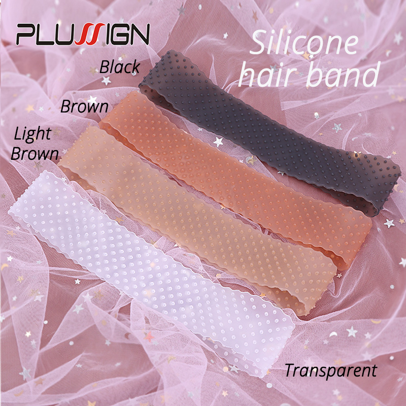 Silicon Wig Band Elastic Wig Grip Brown Transparent Black Headband For Fix Wigs Beige Hair Band Without Gel Or Glue Non Slip 1