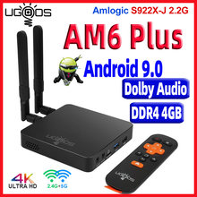 UGOOS AM6 Plus تي في بوكس أندرويد 9.0 DDR4 4GB RAM 32GB ROM AM6 Pro Amlogic S922X 4K مشغل الوسائط AM6 2G 16G TVbox 2.4/5G WiFi 1000M(China)