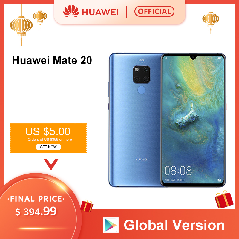 Global Version Huawei Mate 20 6GB 128G Smartphone 6.53 Inch Mobile Phone Kirin 980 NFC Kirin 980 Octa Core EMUI 9.0 4000mAh