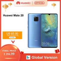 Globalna wersja Huawei Mate 20 6GB 128G Smartphone 6.53 calowy telefon komórkowy Kirin 980 NFC Kirin 980 octa core EMUI 9.0 4000mAh